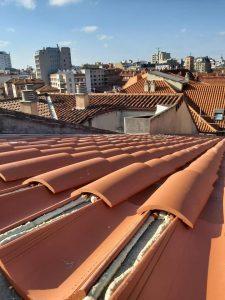 poniendo tejado
